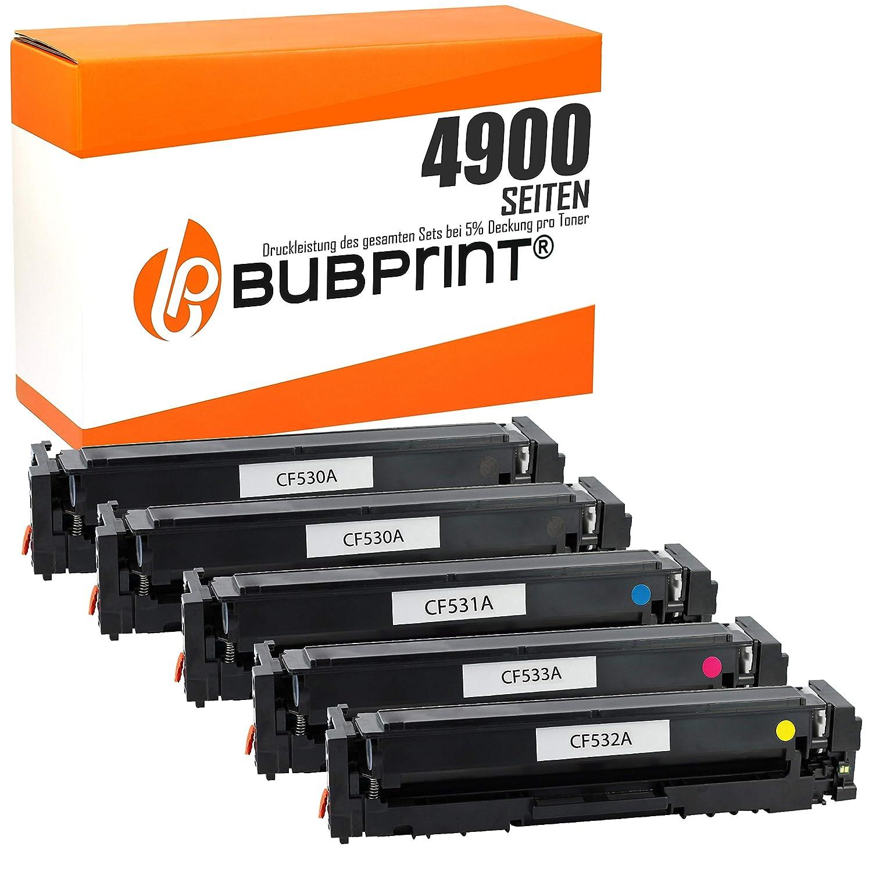Bubprint 5 tóner Compatible con HP 205 A cf530 a cf531 a cf532 a ...