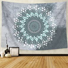 BLEUM CADE Tapestry Mandala Hippie Bohemian Tapestries Wall Hanging Flower  Psychedelic Tapestry Wall Hanging Indian Dorm