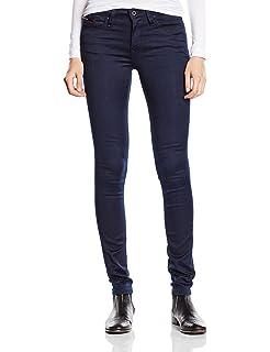 Tommy Jeans Women's High Rise Skinny Santana Dnbst: Amazon