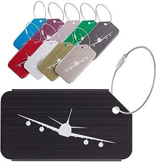 1505a39c484c Amazon.com | 10Pcs Airplane Luggage Tags, CJRSLRB Aluminium Alloy ...