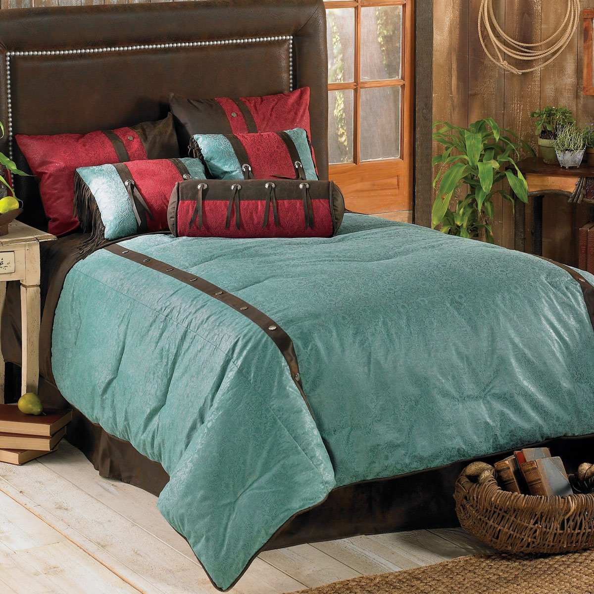 Cheyenne Turquoise Bed Set - Super King