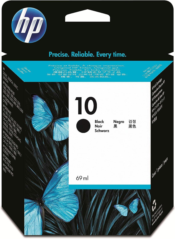 HP 10 C4844A, Negro, Cartucho Original de Tinta, compatible con impresoras de inyección de tinta HP Business Inkjet 2500cm,3000dtn; DesignJet 815,820 MFP; DesignJet Serie 500,500 Plus: Hp: Amazon.es: Oficina y papelería