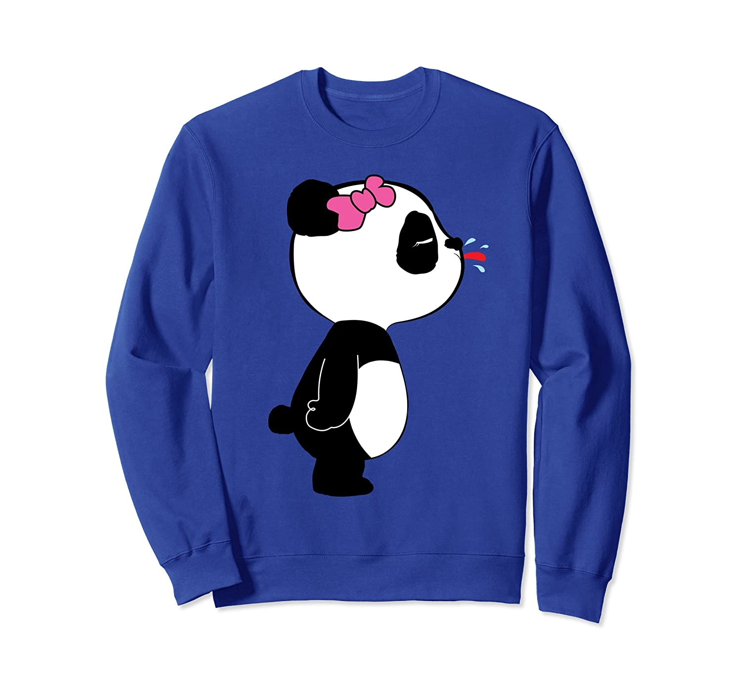 Cute Panda Sweatshirt for Women and Girls-mt