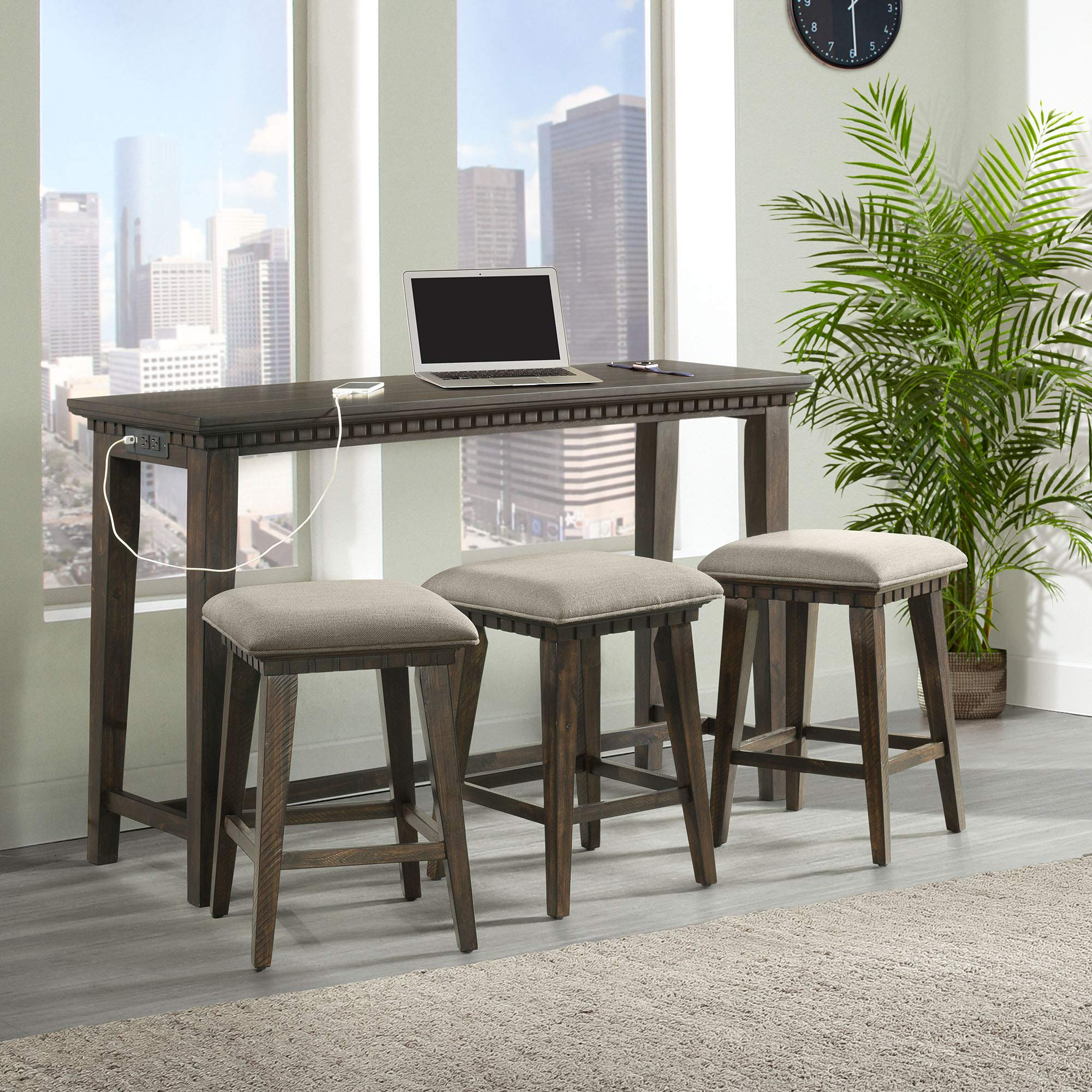 Picket House Furnishings Steele Multipurpose Bar Table Set by Picket House Furnishings