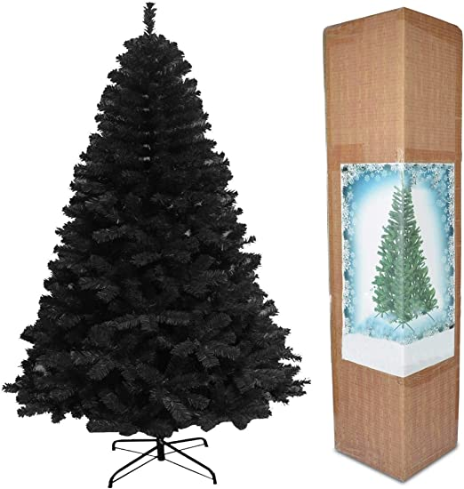 Amazon Com 5ft Black Christmas Tree Imperial 390 Tips Artificial Tree With Metal Stand Home Kitchen