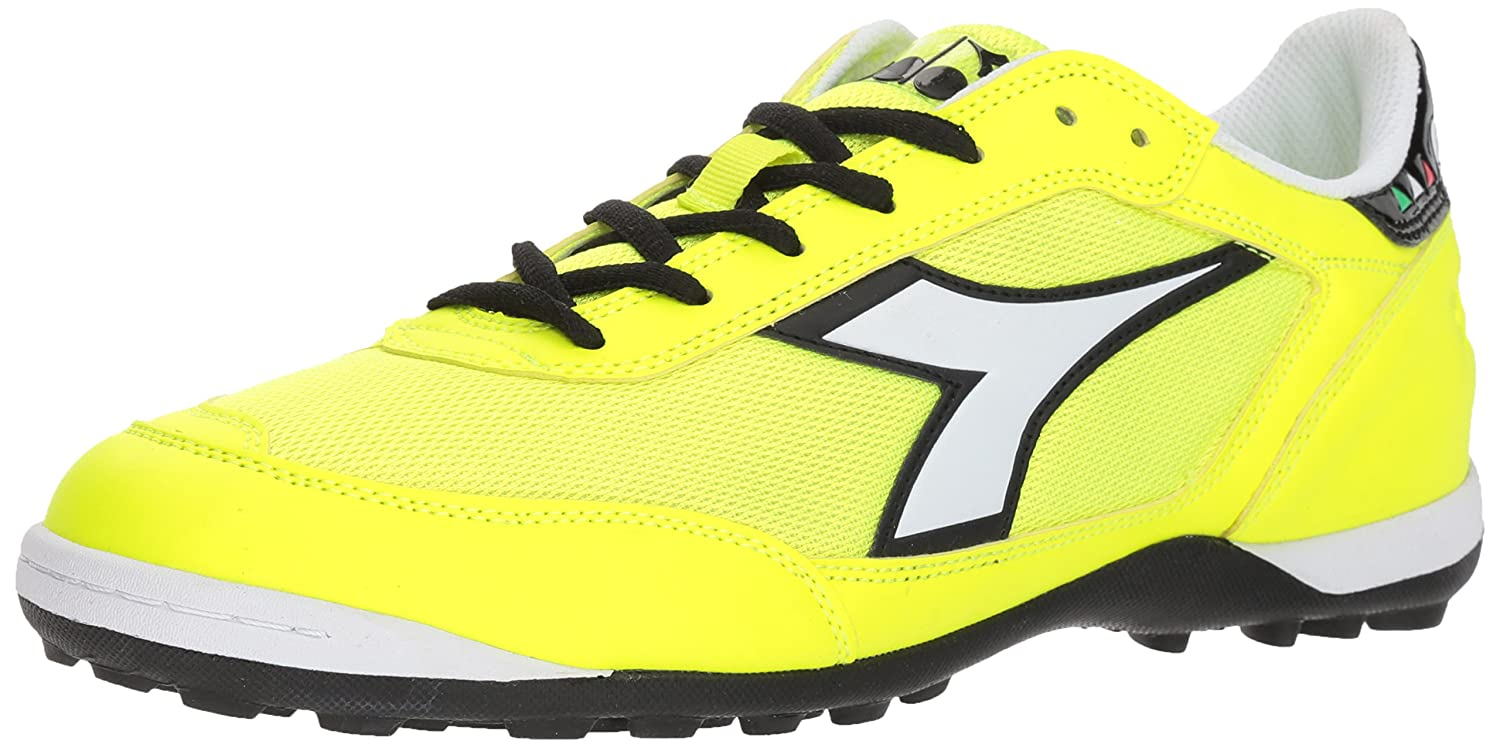 Diadora ユニセックスアダルト B076931RM6 6 D(M) US|Flo Yellow/White Flo Yellow/White 6 D(M) US