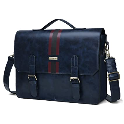 735b62c146bc Image Unavailable. Image not available for. Color  ECOSUSI Men s Briefcase  PU Leather Shoulder Satchel Computer Bag ...