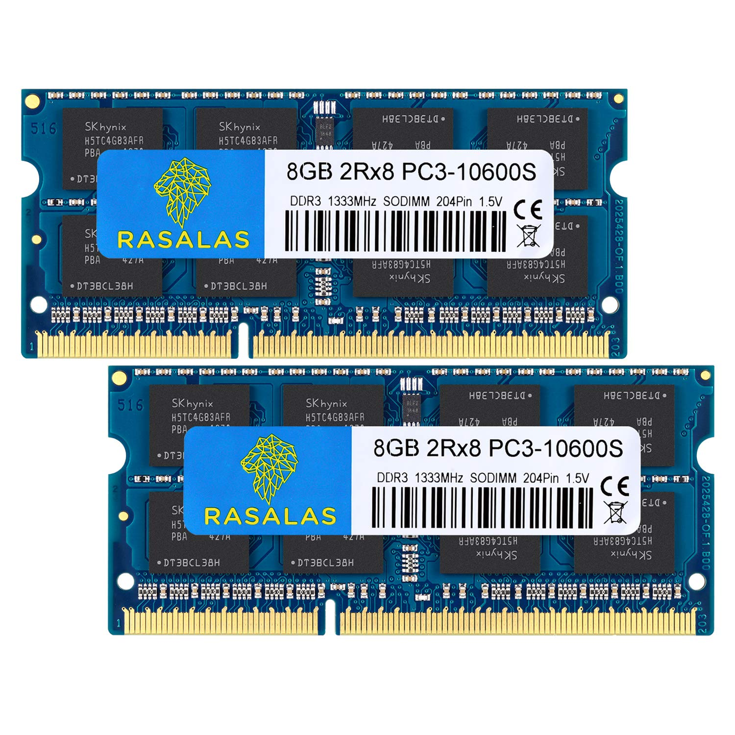 Memoria Ram 16gb Rasalas Ddr3 Kit (2x8gb) Pc3 10600s Ddr3 1333 Mhz 1.5v Cl9 Ddr3 2rx8 Pc3 8gb Ddr3 204 Pin Ddr3 S