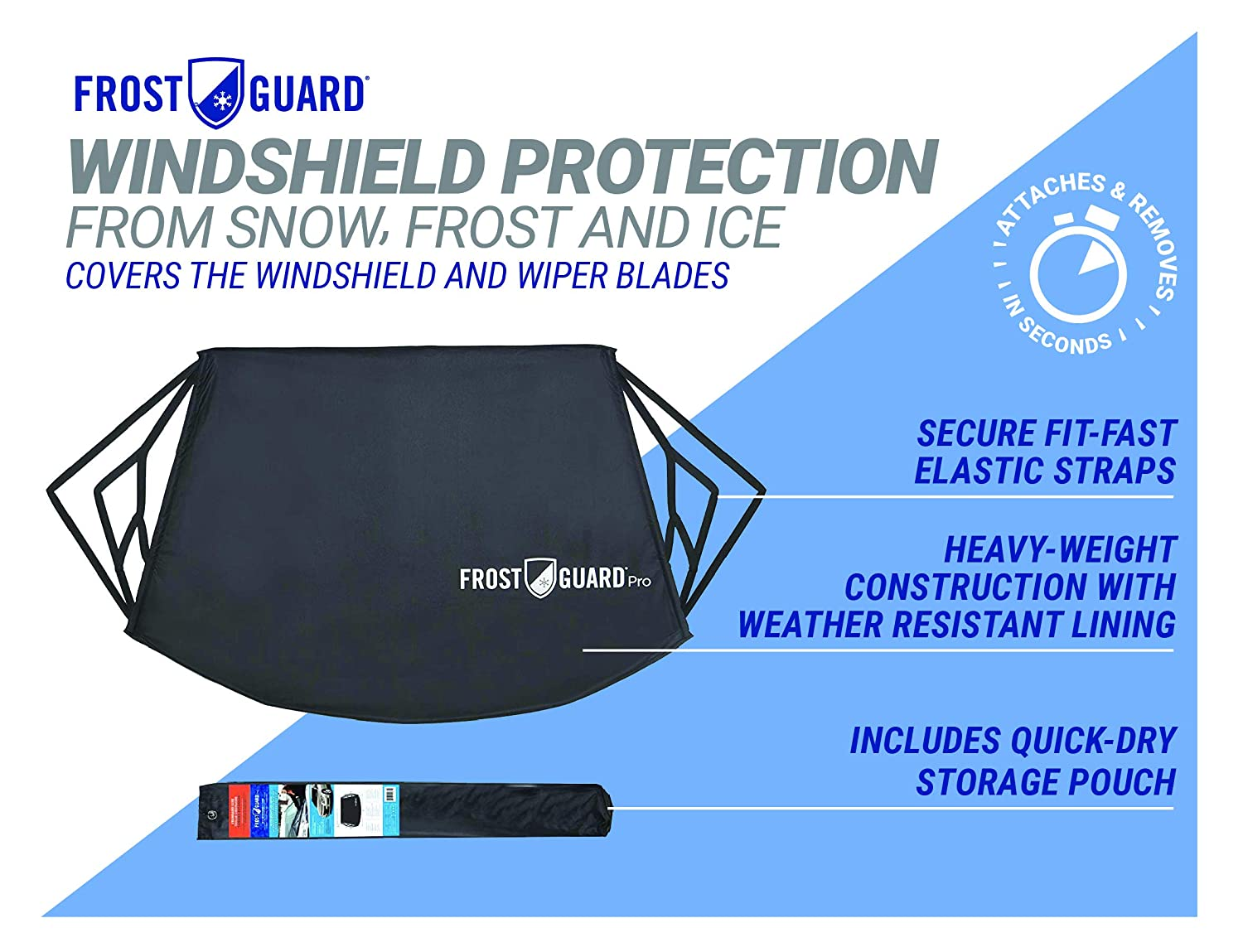 Frostguard Pro | Premium Winter Windshield Cover for Ice and Snow with on