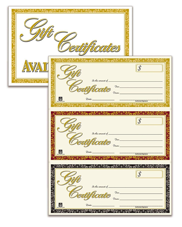 Adams Gift Certificates, Laser/Inkjet Compatible, 3-Up, 30 per Pack with Envelopes (GFTLZ) … (3 Pack)