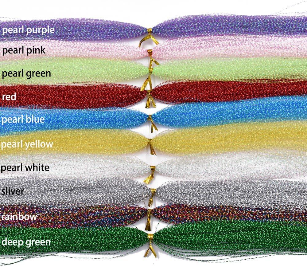 Phad Pesca 10PCS Multicolor Flash Flash Espiral L/ínea para Mosca Pesca Moscas Moscas Mosca Atado Material