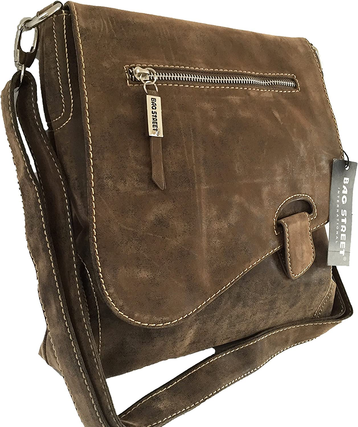 Bag Street Sac /à main en daim Marron 3416