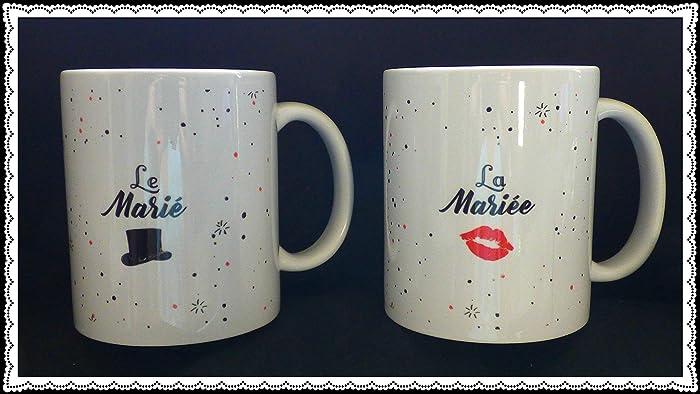 Duo Mug Le Marié Et La Mariée En Céramique Idée Cadeau