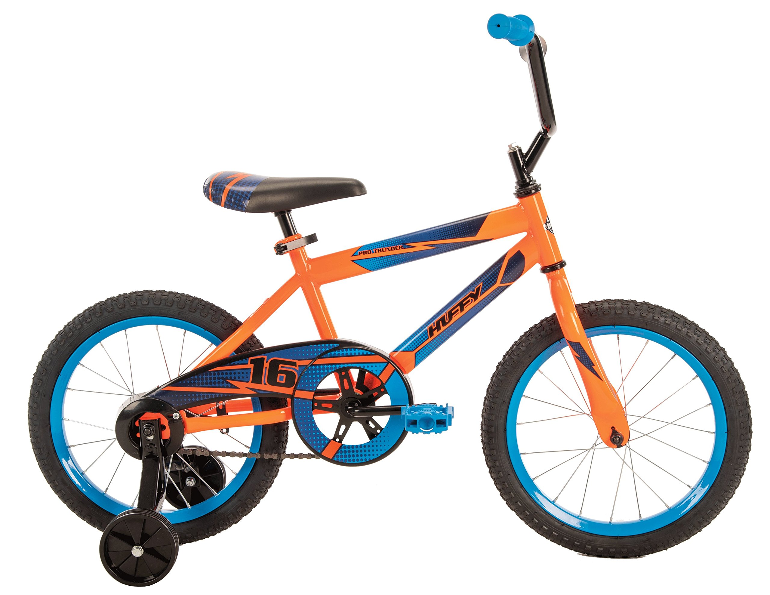 Huffy Bicycle Company Pro Thunder Single-Speed Boys Bike, Neon Orange, 16''
