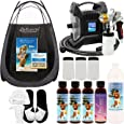 Ultra Pro Plus T85-QC-11 High Performance Sunless Turbine Spray Tanning System; G11 Metal Gun, Pint Simple Tan 12% DHA Solution