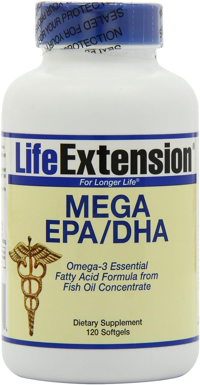Life Extension Mega EPA/DHA, Softgels, 120-Count: Amazon.es: Salud y cuidado personal