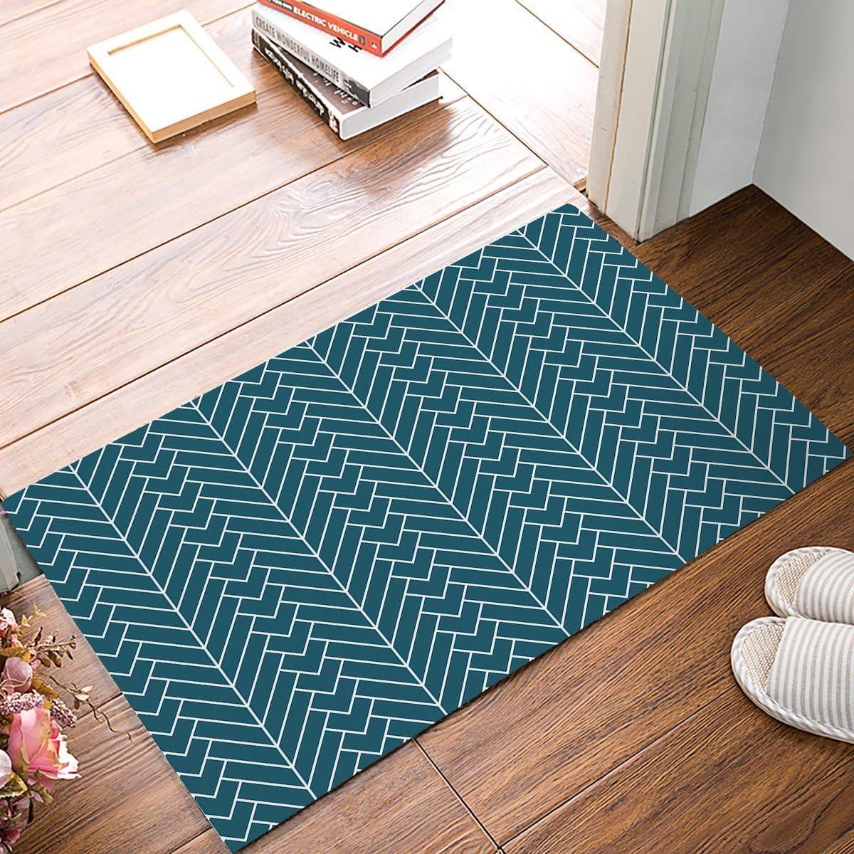 Natural Herringbone Printed Doormat Entrance Mat Floor Mat Rug Indoor Outdoor Front Door Bathroom Mats Rubber Non Slip 15 7 X23 6 Inch Amazon Co Uk Kitchen Home