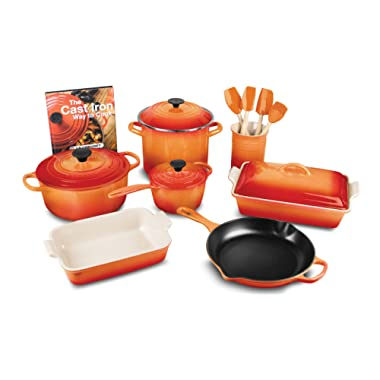 Le Creuset 16-piece Cookware Set (Flame)