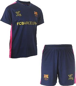 Fc Barcelone - Camiseta y pantalón Corto del Barca - Colección Oficial para niño, Niños, Azul, 10 años: Amazon.es: Deportes y aire libre