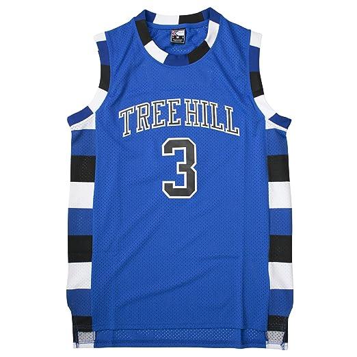89f725f8 MOLPE Scott #3 Tree Hill Ravens Basketball Jersey S-XXXL Blue
