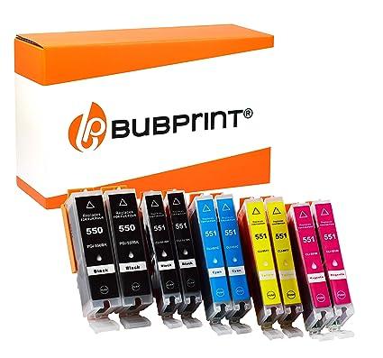 Bubprint 10 Cartuchos de Tinta Compatible con Canon PGI-550 CLI ...
