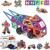 Fansteck 72pcs Bloques Magnéticos, Construcciones para Niños, Puzzle Niños 3D, Juegos de Mesa para Niños, Juguetes Niños…