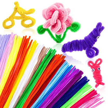 Amazon 300pcs pipe cleaners bulk chenille stem craft supplies 300pcs pipe cleaners bulk chenille stem craft supplies fuzzy sticks arts and crafts for girls kids publicscrutiny Image collections