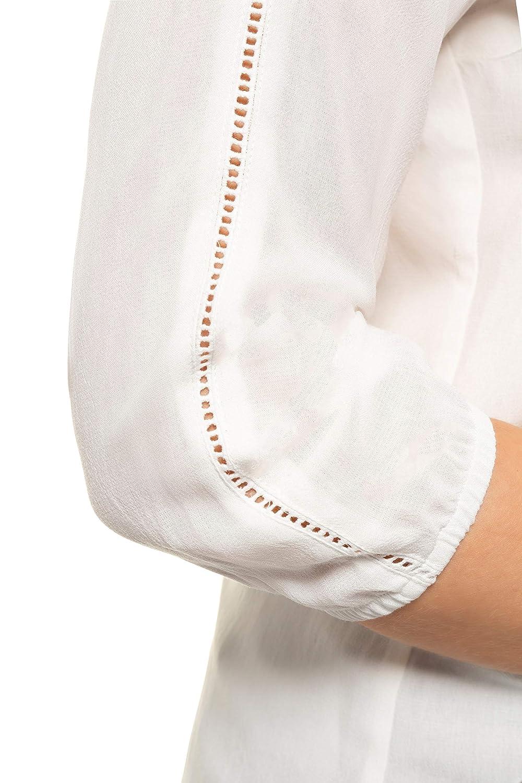 Gina Laura stora storlekar dam blus, dekorationsband, ärm gummiband Beige (Offwhite 71965321)