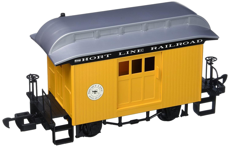 Bachmann Industrias Li 'l Big Haulers equipaje G-scale corto línea de ferrocarril con amarillo/plata techo, grande