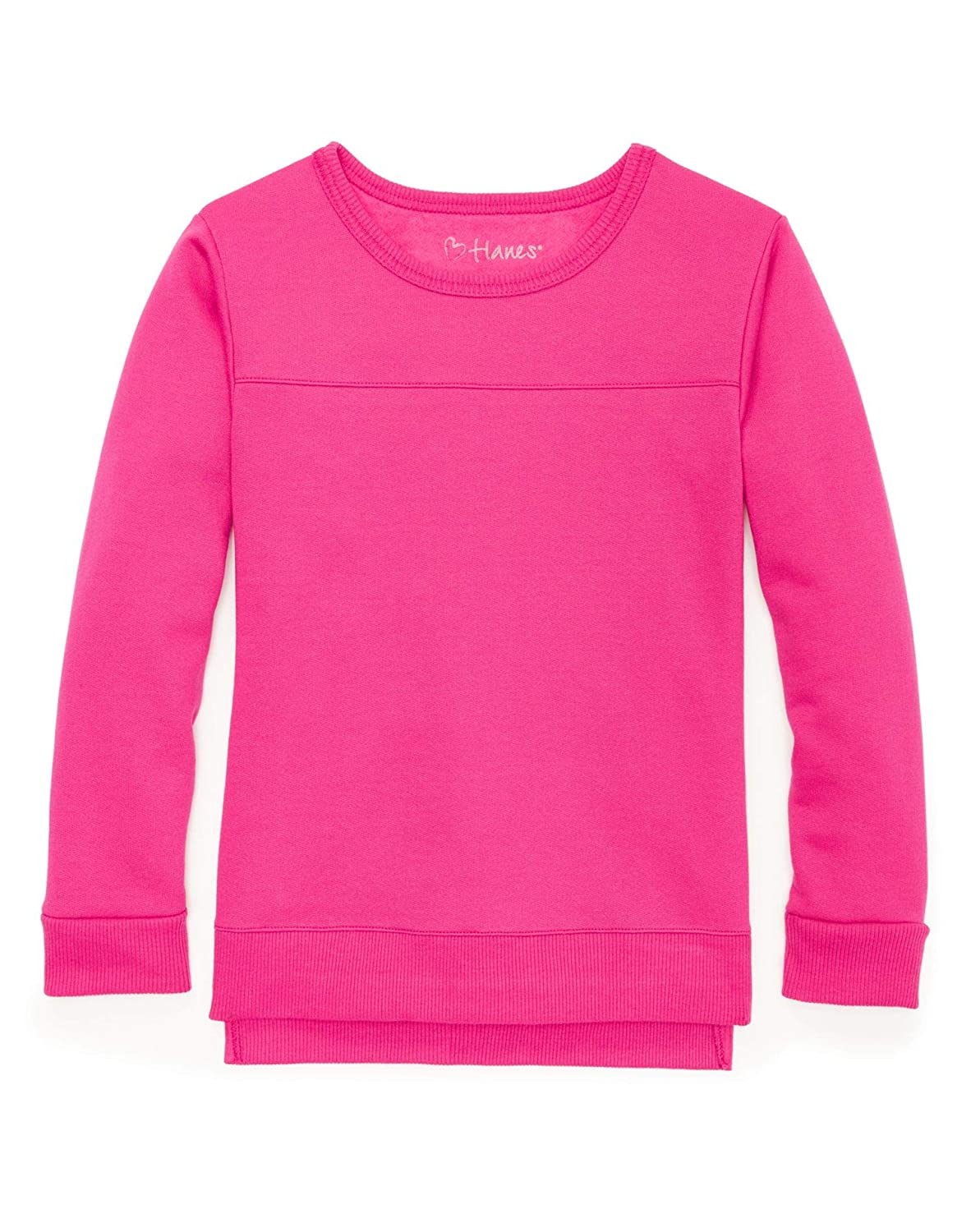 Hanes Girls High-Low Sweatshirt K375
