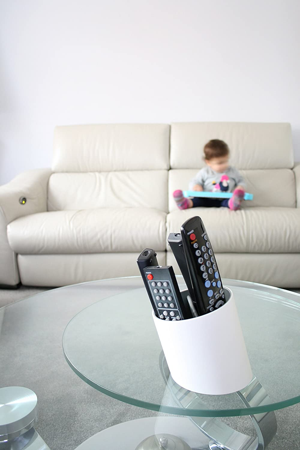 Remote Control Holder For Coffee Table Amazoncom Tilt Remote Control Tidy Remote Holder And Tv Remote