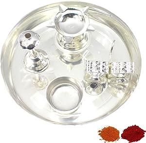 Indian Traditional Decorative Pooja thali Beautiful Lakshmi Festival Ethnic Gift for her/Kankavati/Diwali/Indian Handicraft/Home/Temple/Office/Wedding Gift/Bulk Gift. GS08