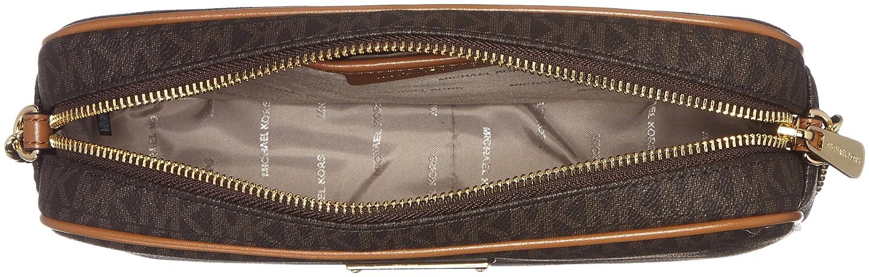 Michael Kors - Jet Set Travel Logo Crossbody, Bolsos bandolera Mujer, Marrón (Brown), 5x16.5x24.1 cm (B x H T): Amazon.es: Zapatos y complementos