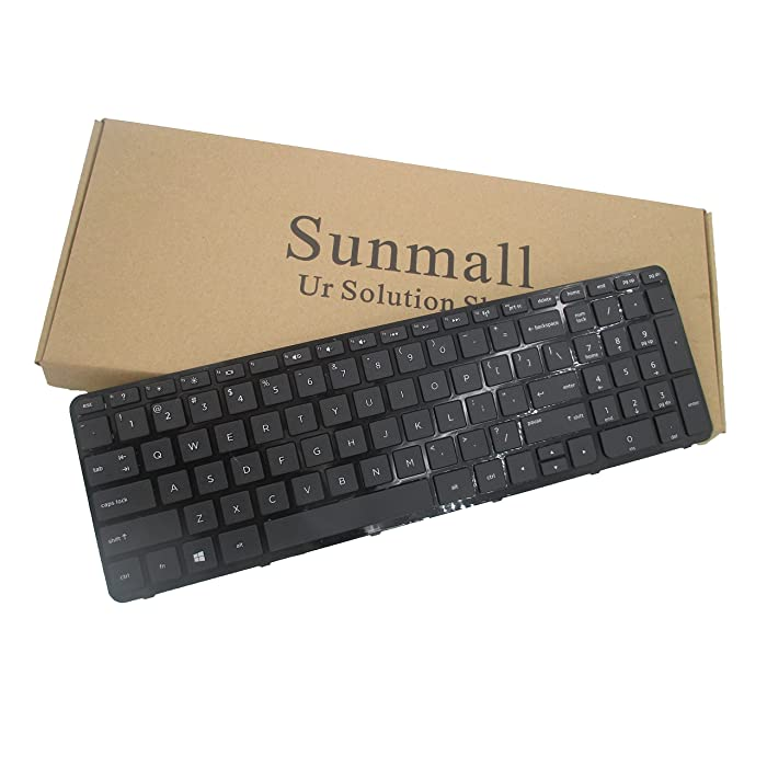 Sunmall Laptop Replacement Keyboard for HP Pavilion 15-E,15-N,15-D,15-G,15-R,15-A,15-S,15-H,15-F,TPN-Q118,TPN-F113,250 G3,255 G3,250 G2,255 G2 Series With Frame Black US Layout