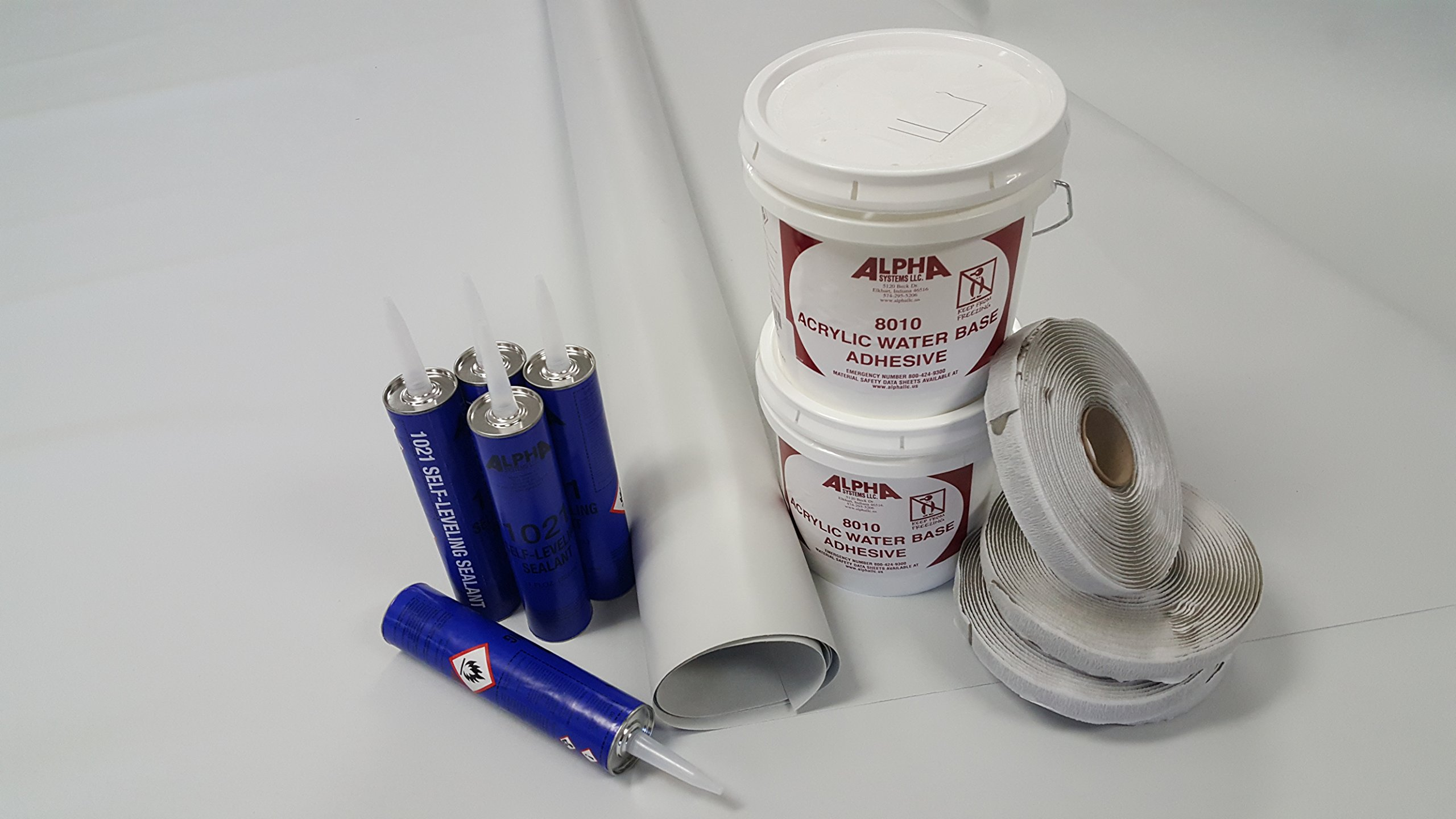 Class A Customs Superflex RV Rubber Roof Kit 8.5' X 30' Complete Kit
