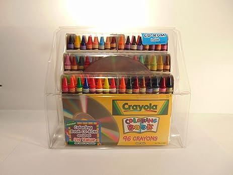 amazon com crayola 96 crayons with coloring book cd rom enclosed