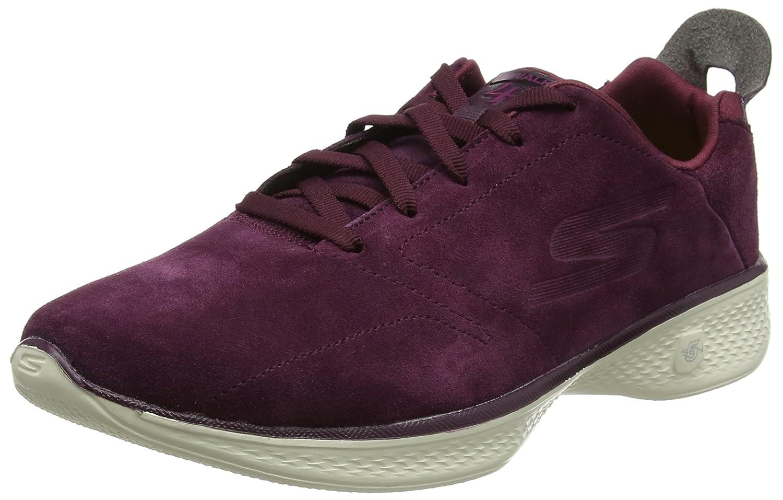 Skechers Damen Go Walk 4 Sneaker, BBK  35 EU|Rot (Burgundy)