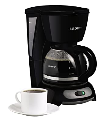 Mr. Coffee 4-Cup Switch Coffeemaker, Black, TF5