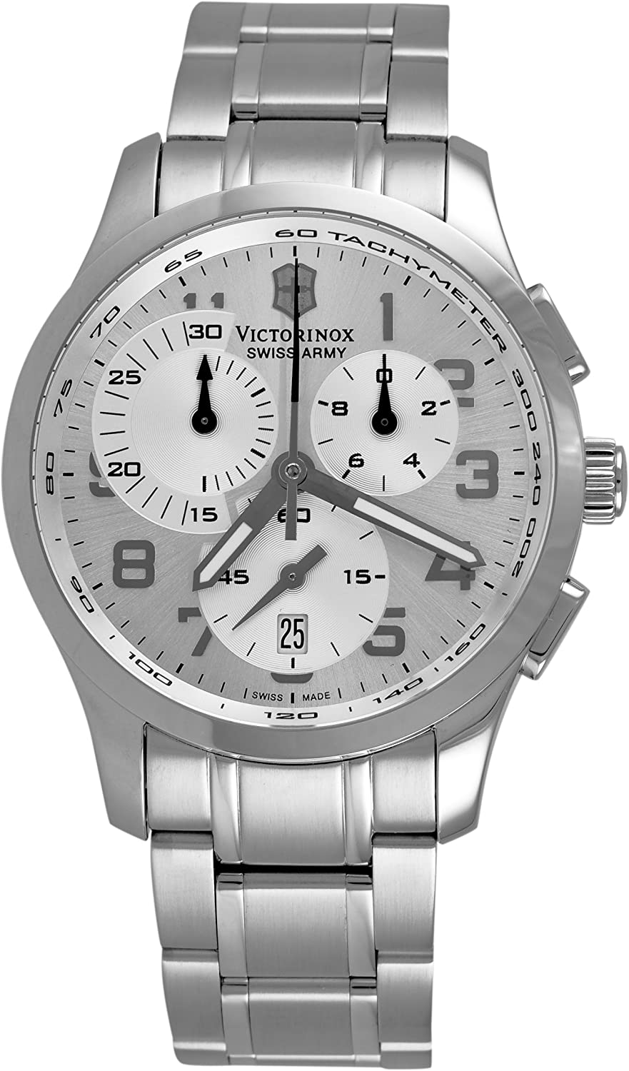 Victorinox Swiss Army Men s 241296 Alliance Chronograph Silver Dial Watch