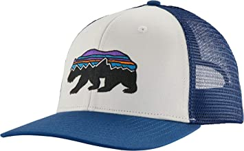 Patagonia Fitz Roy Bear Trucker Hat Gorro, Unisex Adulto, White ...