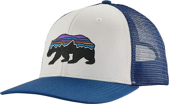 Patagonia Fitz Roy Bear Trucker Hat Gorro, Unisex Adulto, White ...
