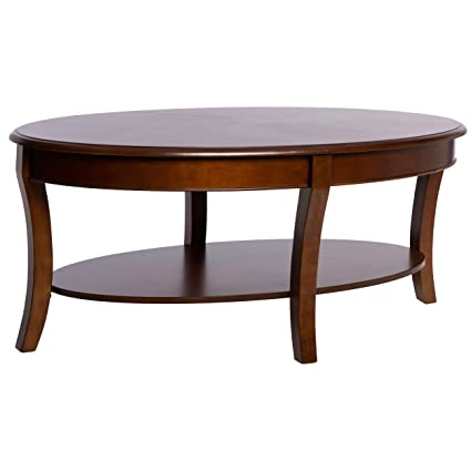 Amazoncom Modern Transitional Oval Cocktail Coffee Table