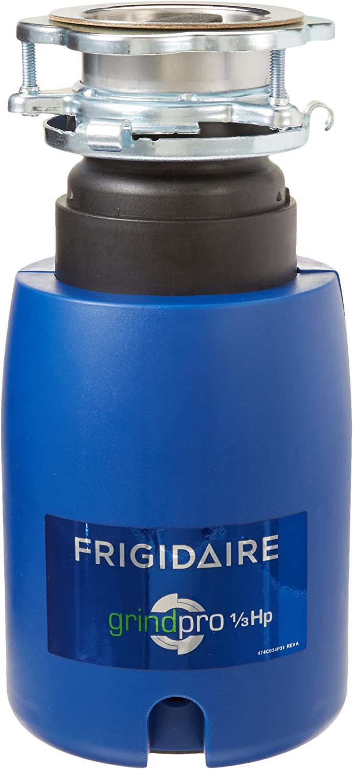Frigidaire FFDI331CMS GrindPro 1/3 HP Corded Continuous Feed Waste Disposer, Classic Blue