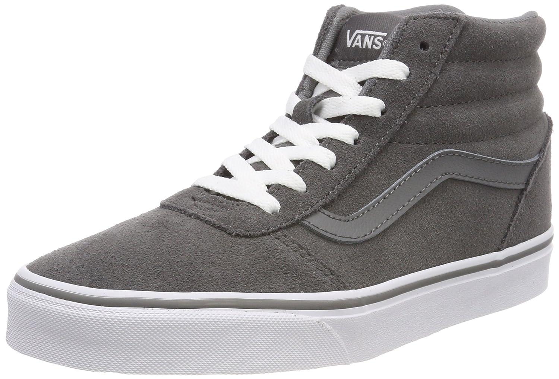 grey high top vans womens