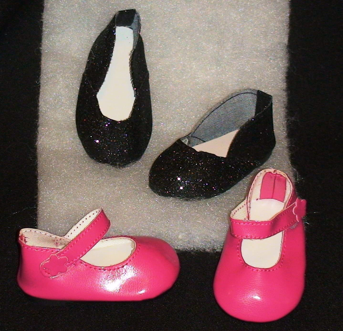 Pink Sparkle Mary Jane Shoes Fits 18 inch American Girl Dolls