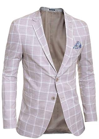 D&R Fashion Hombre Chaqueta Blazer Casual Formal Patrón ...
