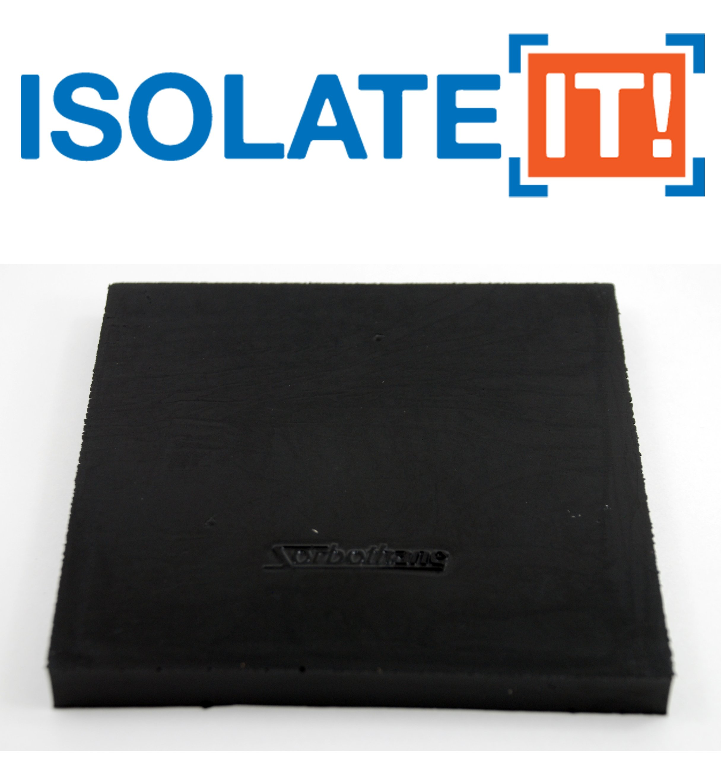 Isolate It: Sorbothane Vibration Isolation Square Pad 70 Duro (.50'' Thick 5'' X 5'') 2-pack