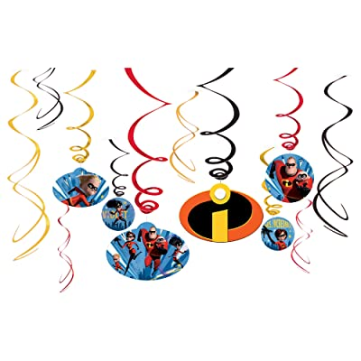 """amscan Disney/Pixar Incredibles 2"""" Swirl Value Pack 12ct, Party Favor: Toys & Games"""