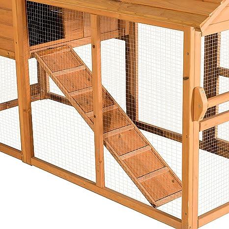 lovupet pollo conejo jaula de aves de corral mascota, diseño de ...