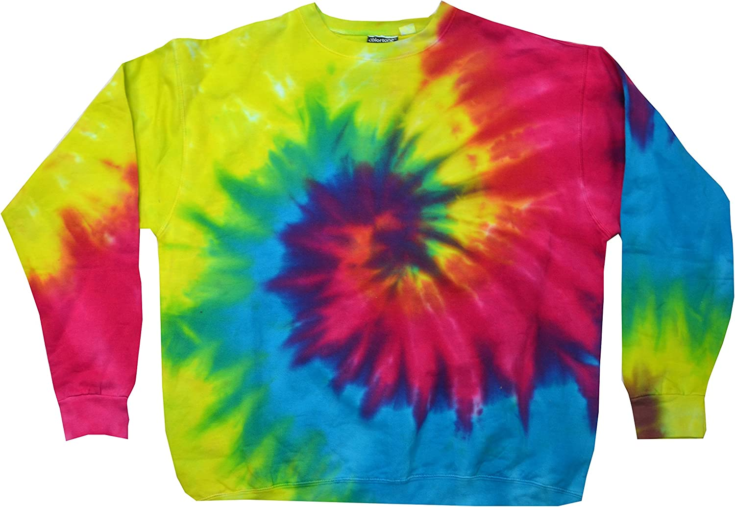 Colortone Tie Dye Crew Neck Fleece Sweatshirt